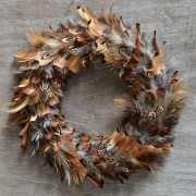 wreath - mixed feathers